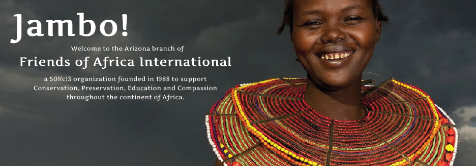 Friends of Africa International supports wildlife conservation, environmental protection, cultural preservation, education and development in Africa.